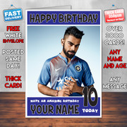 VIRAT KOHLI INDIA BM Personalised Birthday Card