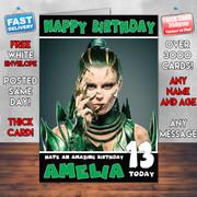 PowerRangers Green 2 Personalised Birthday Card
