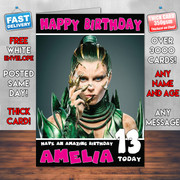 PowerRangers Green Personalised Birthday Card