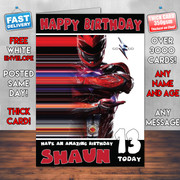 PowerRangers Red Personalised Birthday Card