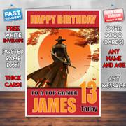 RED STEEL 2 BM1 Personalised Birthday Card