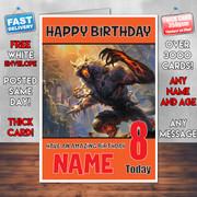 SMITE WEREWOLF BM1 Personalised Birthday Card