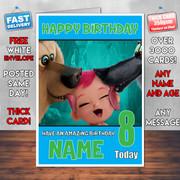 STORKS BABY WOLF BM2 Personalised Birthday Card