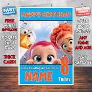 STORKS JUNIOR BABY TULIP BM2 Personalised Birthday Card