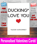 DUCKING LOVE YOU AUTOCORRECT  Valentines Day Card