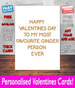 GINGER PERSON  Valentines Day Card