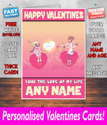 HIS OR HERS VALENTINES DAY CARD KE8 Valentines Day Card