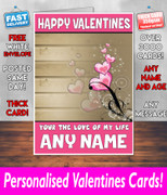HIS OR HERS VALENTINES DAY CARD KE10 Valentines Day Card