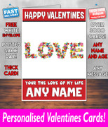 HIS OR HERS VALENTINES DAY CARD KE15 Valentines Day Card