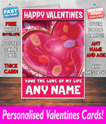 HIS OR HERS VALENTINES DAY CARD KE33 Valentines Day Card