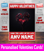 HIS OR HERS VALENTINES DAY CARD KE40 Valentines Day Card