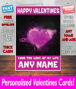 HIS OR HERS VALENTINES DAY CARD KE76 Valentines Day Card