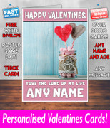 HIS OR HERS VALENTINES DAY CARD KE78 Valentines Day Card