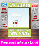 HIS OR HERS VALENTINES DAY CARD KE100 Valentines Day Card