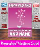 HIS OR HERS VALENTINES DAY CARD KE107 Valentines Day Card