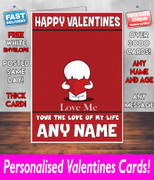 HIS OR HERS VALENTINES DAY CARD KE108 Valentines Day Card