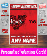 HIS OR HERS VALENTINES DAY CARD KE109 Valentines Day Card