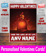 His Or Hers Valentines Day Card Ke132 Valentines Day Card
