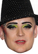 Boy George Dec 2011  Music Celebrity Face Mask