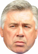 Carlo Ancelotti  - SPORTS Celebrity Face Mask