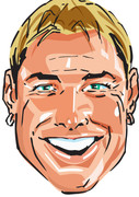 Warne Cartoon Cricket Face Mask 2017 - SPORTS Celebrity Face Mask