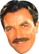 TOM SELLECK 80S  2017 - TV Celebrity Face Mask
