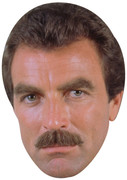 Tom Selleck Young 2  2017 - TV Celebrity Face Mask