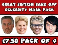 Great British Bake Off Celebrity Face Mask Pack  All 4 Judges