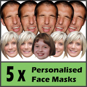 5 x Personalised Face Masks - Stag | Hen | Birthday | Wedding
