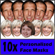 10 x Personalised Face Masks - Stag | Hen | Birthday | Wedding