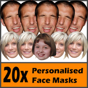 20 x Personalised Face Masks - Stag | Hen | Birthday | Wedding