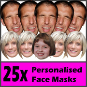 25 x Personalised Face Masks - Stag | Hen | Birthday | Wedding