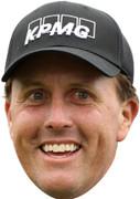 Phil Mickleson Golf Face Masks - Golfer Face Mask