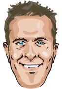 Michael Vaughan Cartoon Mask