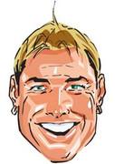 Shane Warne Cartoon Face Mask