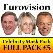 Eurovision Celebrity Face Mask PACK