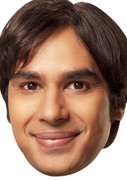 Raj Big Bang Theory Celebrity Face Mask