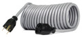 Flexy® Coiled Extension Cord Extends 5 in. to 10 ft. - 16 Gauge - 13 Amps