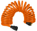Flexy® Coiled Extension Cord Extends 20 in. to 45 ft. - 14 Gauge - 15 Amps