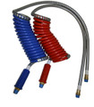 Combo or Single 40 in. Lead Stallion Power Air Lines - Coiled Air Brake Component