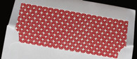 Pattern Envelope Liners - Red Geometric Pattern