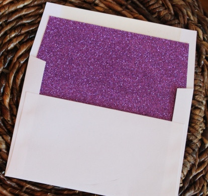 Glitter Envelope Liners for Square Flap Envelopes - Purple