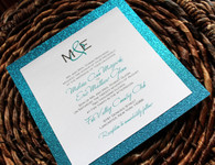 Square Glitter Invitation Mat