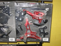 SUZUKI GSXR1000 2007-08 REARSETS TYPE 2.5 RED VALTERMOTO ADJUSTABLE