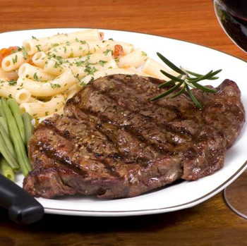 Gourmet Rib Eye Steaks - The rich marbling that comes exclusively from USDA Prime and Choice-grade beef gives these hefty, boneless steaks a succulent flavor. They're a steaklover's favorite!