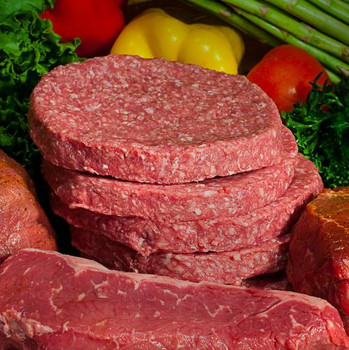Ground Sirloin Steaks - Hefty half-pounders are flavorful & full-bodied. They're made out of pure ground sirloin and make a delicious steak - on the grill or in the skillet.