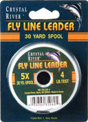 Crystal River 5X Fly Fishing Leader 30 YD Spool 4 lb
