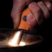 Sparkie Fire Starter Orange - In Action