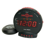 Sonic BOMB Alarm Clock with 12V Bed Shaker