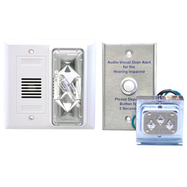 Hard Wired 24VAC Doorbell System with Loud Horn Flashing Strobe